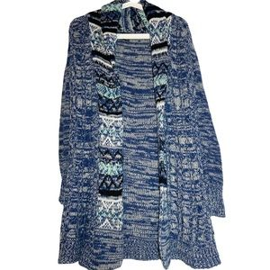 Rue21 Draped Slouchy Shrug Cable Knit Cardigan M
